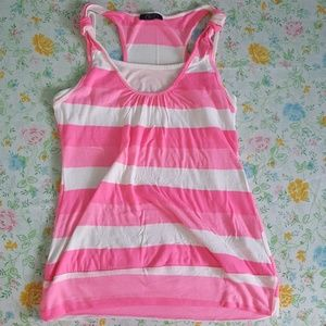 High light pink and white tank top